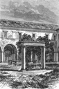 ROME: Well, Cloister of San Pietro in Vincoli, print, 1872